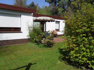 Ferienwohnung in Dangast Wohnung 2 mit Blick in den Garten